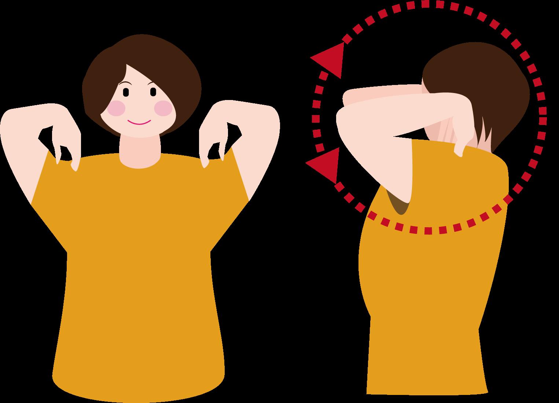 肩こり解消に効くストレッチ:肩回し