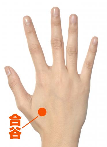 生理痛の辛い症状を緩和する:手のツボ【合谷】